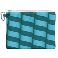 Curtain Stripped Blue Creative Canvas Cosmetic Bag (xxl) by Nexatart