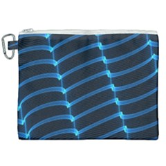 Background Neon Light Glow Blue Canvas Cosmetic Bag (xxl) by Nexatart