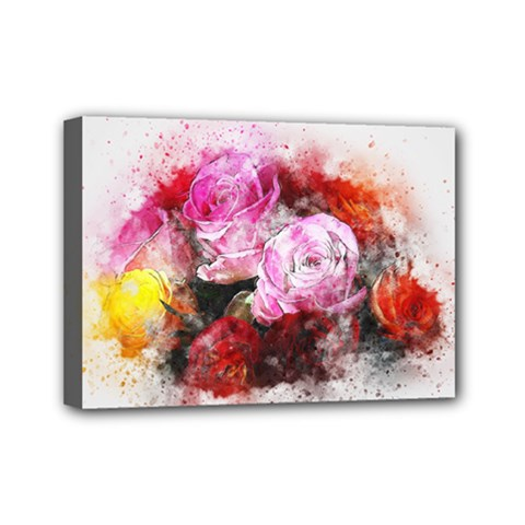 Flowers Roses Wedding Bouquet Art Mini Canvas 7  X 5
