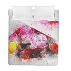 Flowers Roses Wedding Bouquet Art Duvet Cover Double Side (full/ Double Size)
