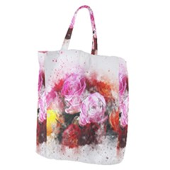 Flowers Roses Wedding Bouquet Art Giant Grocery Zipper Tote