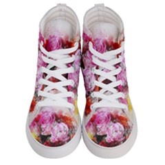 Flowers Roses Wedding Bouquet Art Men s Hi Top Skate Sneakers