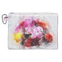 Flowers Roses Wedding Bouquet Art Canvas Cosmetic Bag (xl) by Nexatart