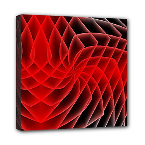 Abstract Red Art Background Digital Multi Function Bag