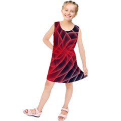 Abstract Red Art Background Digital Kids  Tunic Dress