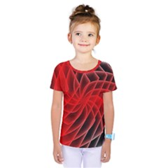 Abstract Red Art Background Digital Kids  One Piece Tee