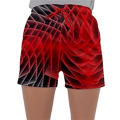 Abstract Red Art Background Digital Sleepwear Shorts