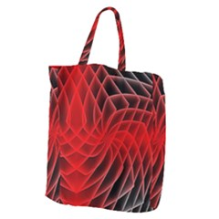 Abstract Red Art Background Digital Giant Grocery Zipper Tote