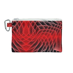 Abstract Red Art Background Digital Canvas Cosmetic Bag (medium)
