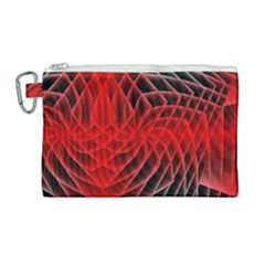 Abstract Red Art Background Digital Canvas Cosmetic Bag (large) by Nexatart