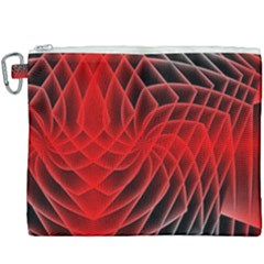 Abstract Red Art Background Digital Canvas Cosmetic Bag (xxxl)