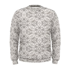 Background Wall Stone Carved White Men s Sweatshirt