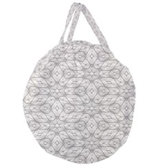 Background Wall Stone Carved White Giant Round Zipper Tote