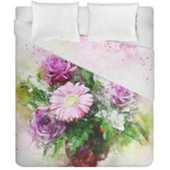 Flowers Roses Bouquet Art Nature Duvet Cover Double Side (california King Size)