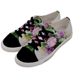 Flowers Roses Bouquet Art Nature Men s Low Top Canvas Sneakers by Nexatart