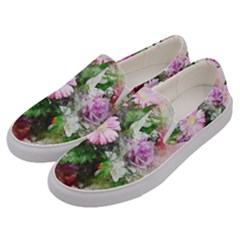 Flowers Roses Bouquet Art Nature Men s Canvas Slip Ons by Nexatart