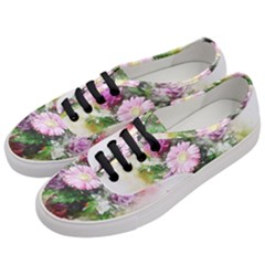 Flowers Roses Bouquet Art Nature Women s Classic Low Top Sneakers by Nexatart