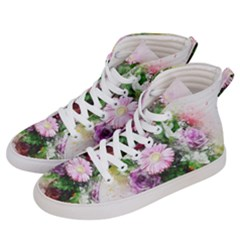 Flowers Roses Bouquet Art Nature Men s Hi Top Skate Sneakers by Nexatart