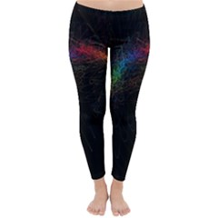 Background Light Glow Lines Colors Classic Winter Leggings