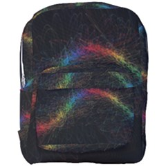 Background Light Glow Lines Colors Full Print Backpack by Nexatart