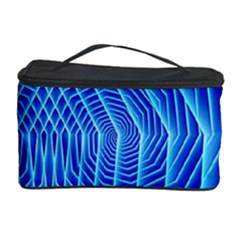 Blue Background Light Glow Abstract Art Cosmetic Storage Case