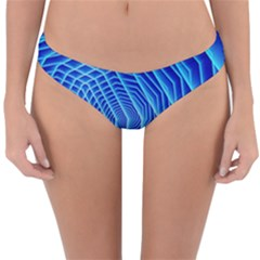 Blue Background Light Glow Abstract Art Reversible Hipster Bikini Bottoms