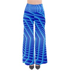 Blue Background Light Glow Abstract Art Pants
