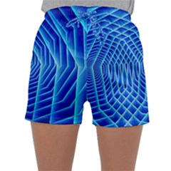 Blue Background Light Glow Abstract Art Sleepwear Shorts