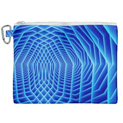 Blue Background Light Glow Abstract Art Canvas Cosmetic Bag (xxl) by Nexatart