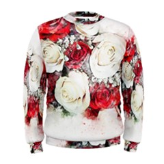Flowers Roses Bouquet Art Nature Men s Sweatshirt by Nexatart