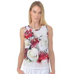 Flowers Roses Bouquet Art Nature Women s Basketball Tank Top by Nexatart