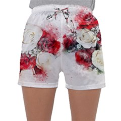 Flowers Roses Bouquet Art Nature Sleepwear Shorts