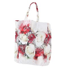Flowers Roses Bouquet Art Nature Giant Grocery Zipper Tote