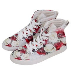 Flowers Roses Bouquet Art Nature Women s Hi Top Skate Sneakers by Nexatart