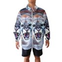 Cougar Animal Art Swirl Decorative Wind Breaker (Kids) View1