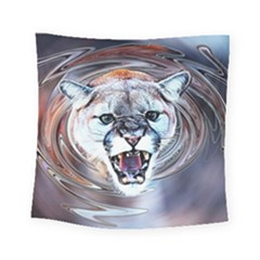 Cougar Animal Art Swirl Decorative Square Tapestry (small) by Nexatart