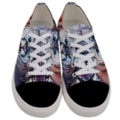 Cougar Animal Art Swirl Decorative Women s Low Top Canvas Sneakers