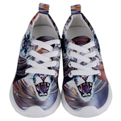 Cougar Animal Art Swirl Decorative Kids  Lightweight Sports Shoes