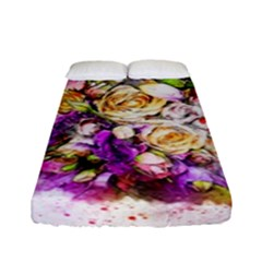 Flowers Bouquet Art Nature Fitted Sheet (full/ Double Size)