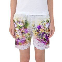 Flowers Bouquet Art Nature Women s Basketball Shorts by Nexatart