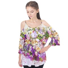 Flowers Bouquet Art Nature Flutter Tees