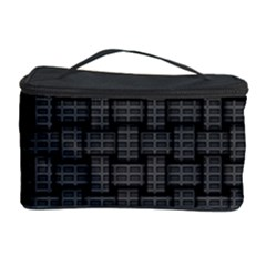 Background Weaving Black Metal Cosmetic Storage Case