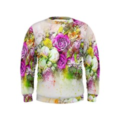 Flowers Bouquet Art Nature Kids  Sweatshirt