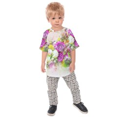 Flowers Bouquet Art Nature Kids Raglan Tee by Nexatart