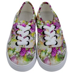 Flowers Bouquet Art Nature Kids  Classic Low Top Sneakers