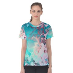 Background Art Abstract Watercolor Women s Cotton Tee