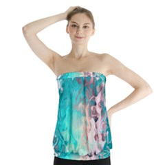 Background Art Abstract Watercolor Strapless Top