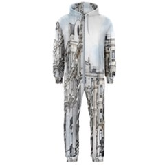 Architecture Building Design Hooded Jumpsuit (men)