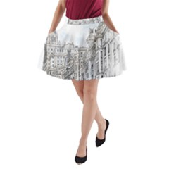 Architecture Building Design A Line Pocket Skirt by Nexatart