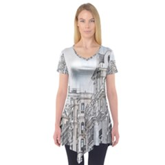 Architecture Building Design Short Sleeve Tunic